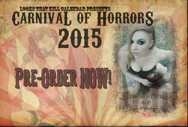 Pre-Order your 2015 Looks that Kill Calendar TODAY! All calendars come with a bloody hot behind the scenes DVD and will be shipped out on November 1st.