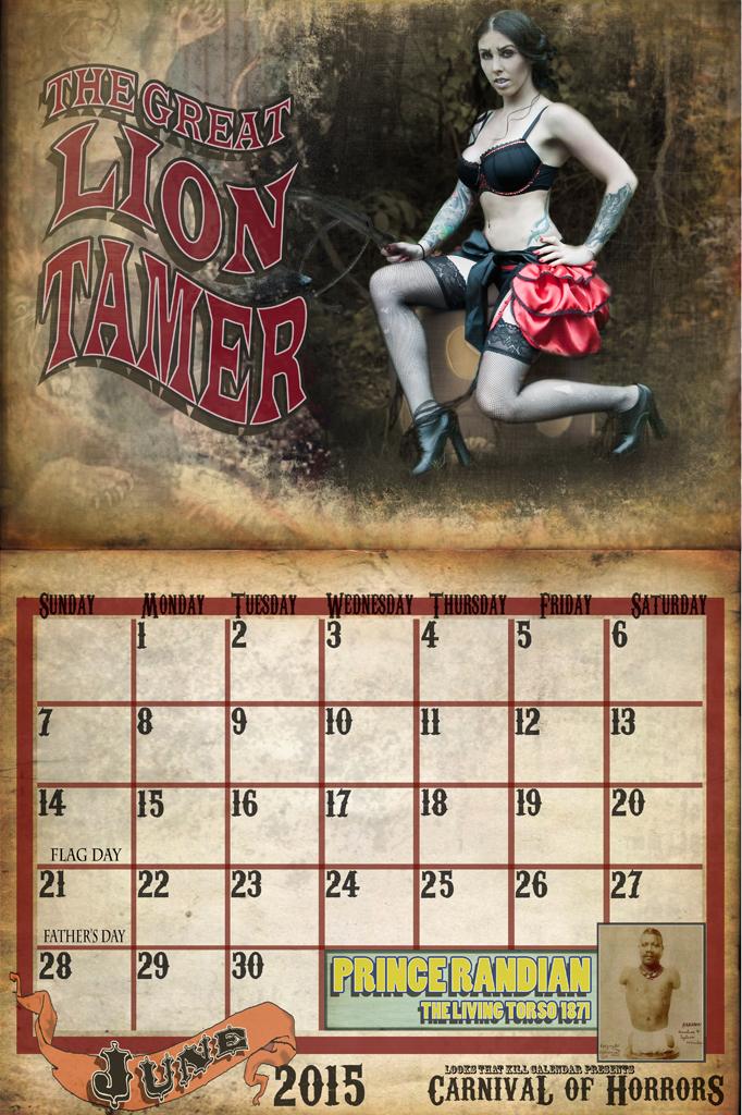Looks That Kill Calendar 2015