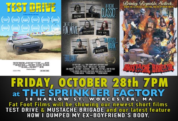 "On Friday, October 28th from 7-10pm at The Sprinkler Factory 38 Harlow Street Worcester, MA. The Worcester Film Festival presents ""An Evening With Fat Foot Films"".  They will be showing […]"